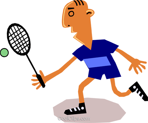 Tennis player Royalty Free Vector Clip Art illustration cart1341