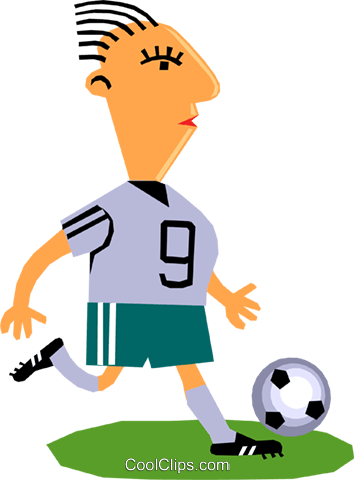 Soccer player Royalty Free Vector Clip Art illustration cart1343
