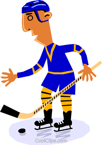 Hockey player Royalty Free Vector Clip Art illustration cart1344
