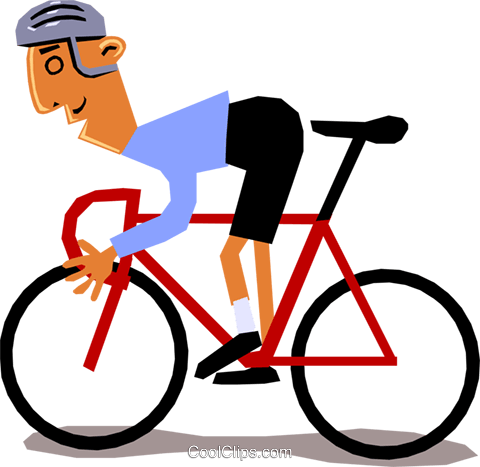 Cyclist racing Royalty Free Vector Clip Art illustration cart1346