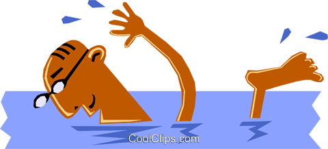 Man Swimming Royalty Free Vector Clip Art illustration cart1348