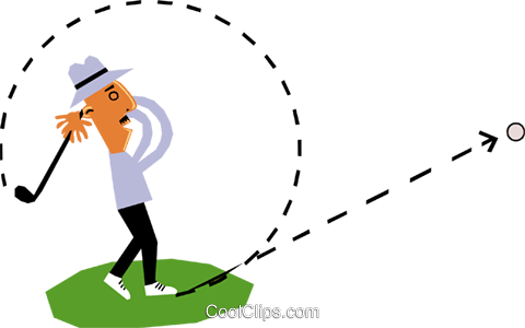 Golfer Royalty Free Vector Clip Art illustration cart1350
