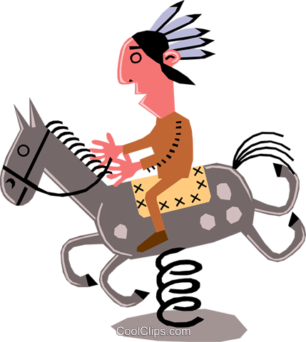 Man on horseback Royalty Free Vector Clip Art illustration cart1359
