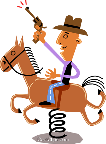 Man on horseback Royalty Free Vector Clip Art illustration cart1360
