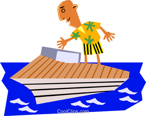 Funky Picasso man on vacation Royalty Free Vector Clip Art illustration cart1374