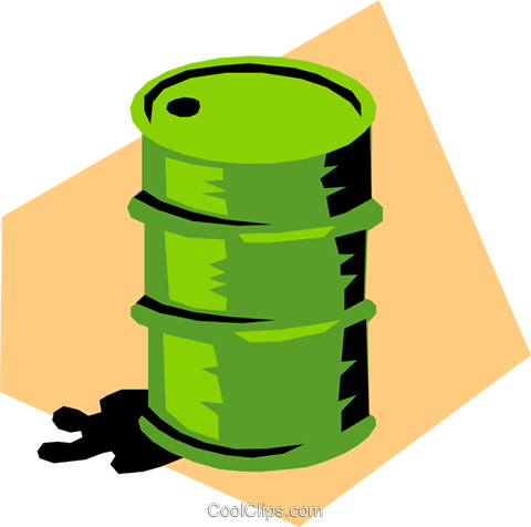 Oil drum Royalty Free Vector Clip Art illustration envi0165