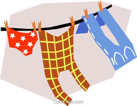 Laundry Royalty Free Vector Clip Art illustration hous0787