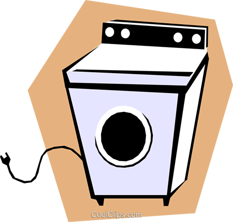 Clothes dryer Royalty Free Vector Clip Art illustration hous0788