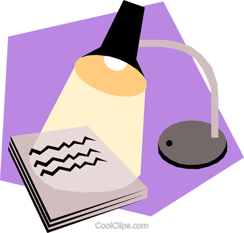Desk lamps Royalty Free Vector Clip Art illustration hous0789