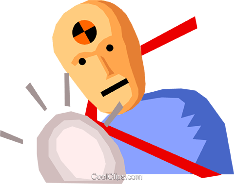 Crash test dummy Royalty Free Vector Clip Art illustration peop1509