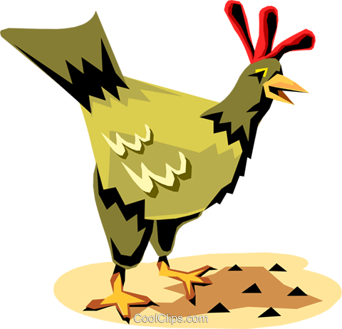 Chicken Royalty Free Vector Clip Art illustration anim1176
