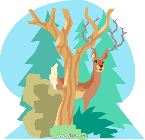 Deer Royalty Free Vector Clip Art illustration anim1177