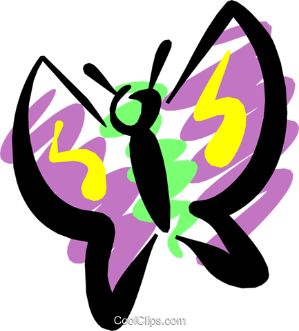 Butterfly Royalty Free Vector Clip Art illustration anim1190