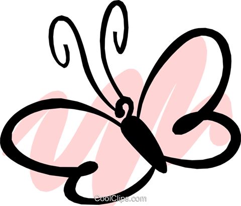 Butterfly Royalty Free Vector Clip Art illustration anim1192