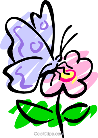 Butterfly Royalty Free Vector Clip Art illustration anim1193