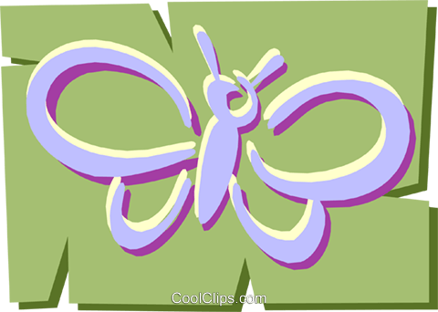Butterfly Royalty Free Vector Clip Art illustration anim1200