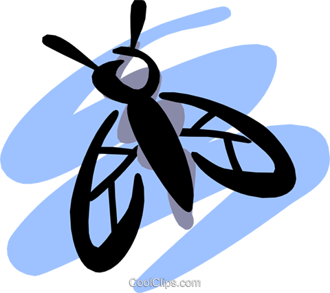 Flies Royalty Free Vector Clip Art illustration anim1201