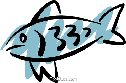 Fish Royalty Free Vector Clip Art illustration anim1203