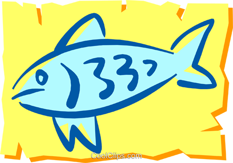 Fish Royalty Free Vector Clip Art illustration anim1204