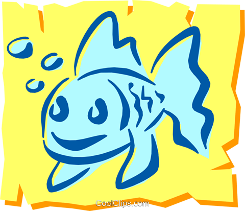 Fish Royalty Free Vector Clip Art illustration anim1208
