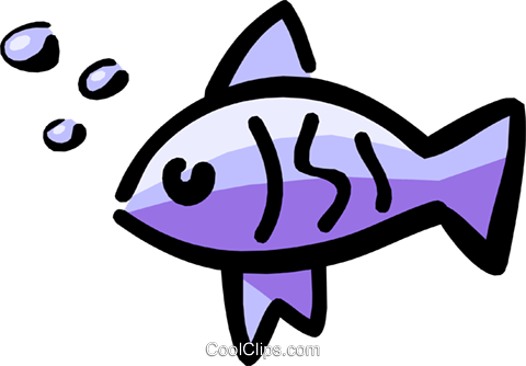 Fish Royalty Free Vector Clip Art illustration anim1211