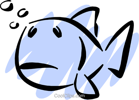 Fish Royalty Free Vector Clip Art illustration anim1213