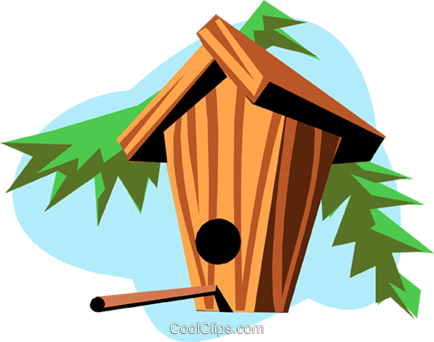 Birdhouses Royalty Free Vector Clip Art illustration arch0322