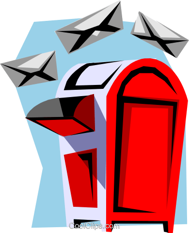 Mailbox Royalty Free Vector Clip Art illustration busi0766