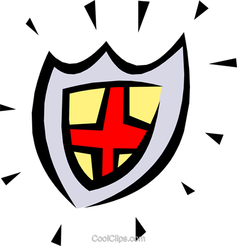Shield symbol Royalty Free Vector Clip Art illustration cart1244