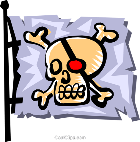 Pirate flag Royalty Free Vector Clip Art illustration cart1251