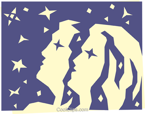 Sign of the zodiac - Gemini Royalty Free Vector Clip Art illustration even0519