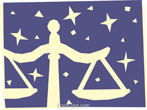 Sign of the zodiac - Libra Royalty Free Vector Clip Art illustration even0522