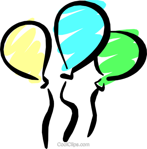 Party balloons Royalty Free Vector Clip Art illustration even0531