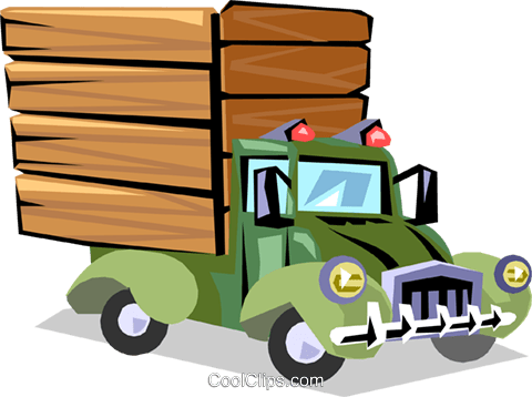 Truck Royalty Free Vector Clip Art illustration indu0584