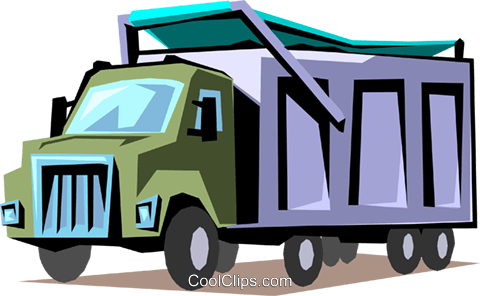 Delivery truck Royalty Free Vector Clip Art illustration indu0589