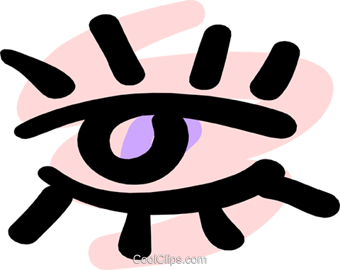 Eye Royalty Free Vector Clip Art illustration medi0272