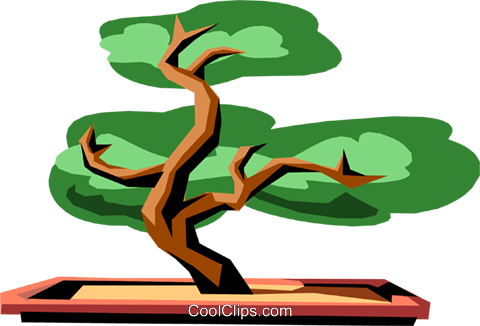 Bonsai tree Royalty Free Vector Clip Art illustration natu0534