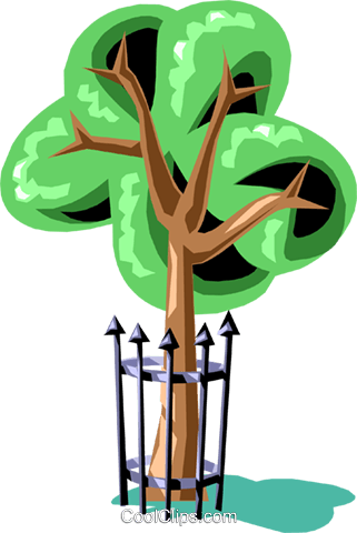 Tree Royalty Free Vector Clip Art illustration natu0535