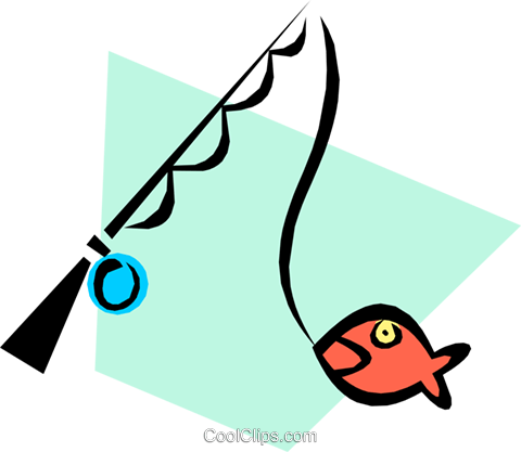 Fishing poles Royalty Free Vector Clip Art illustration spor0173