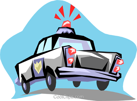 Police car Royalty Free Vector Clip Art illustration tran0466