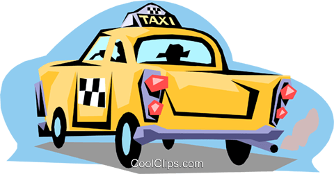 Taxi Royalty Free Vector Clip Art illustration tran0475