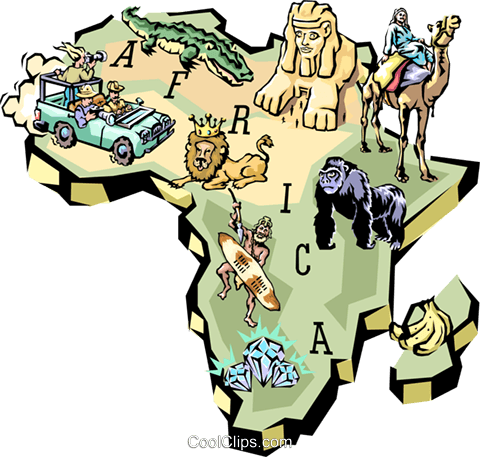 Africa Royalty Free Vector Clip Art illustration worl0612