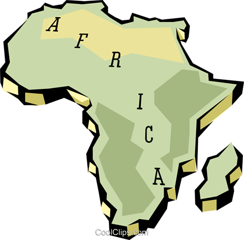 Africa Royalty Free Vector Clip Art illustration worl0621