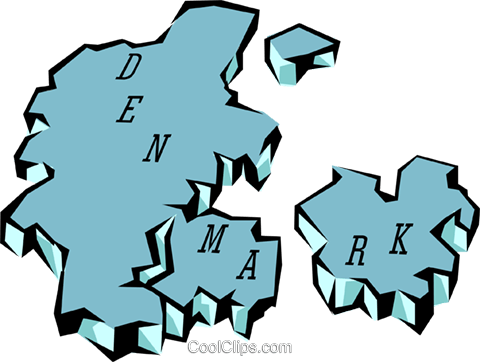 Denmark Royalty Free Vector Clip Art illustration worl0623