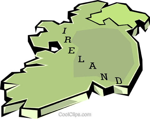 Ireland Royalty Free Vector Clip Art illustration worl0627