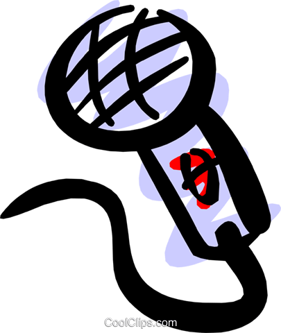 Microphone Royalty Free Vector Clip Art illustration arts0255