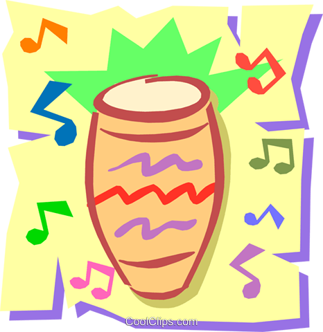 Bongo drum Royalty Free Vector Clip Art illustration arts0266