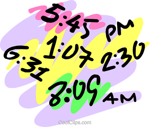 Time Royalty Free Vector Clip Art illustration busi0791