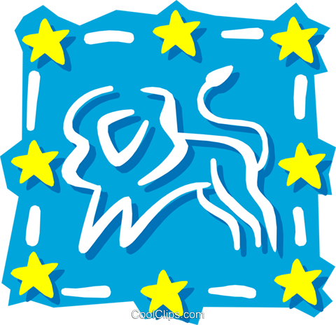Sign of the zodiac - Leo Royalty Free Vector Clip Art illustration even0557