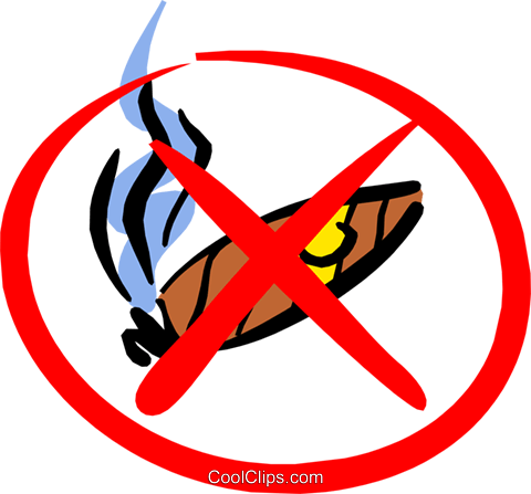 No smoking sign Royalty Free Vector Clip Art illustration medi0270